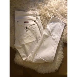 Hudson white skinny jeans